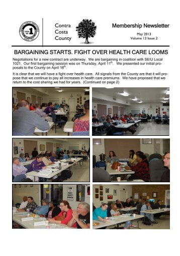 Contra Costa County Membership Newsletter BARGAINING ... - Net