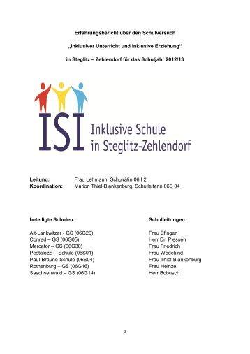 Bericht des Schulversuches Inklusion 2012/2013 - Paul-Braune ...