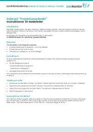 """Rollespil """"Projektsamarbejde"""" Instruktioner til mødeleder - BAR Kontor"""