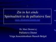 Spiritualiteit en Palliatieve Zorg - Annevillegroep