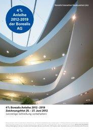 4 % Anleihe 20122019 der Borealis AG