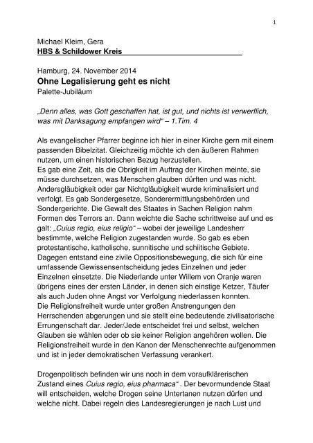 """Michael Kleim Eröffnung der Ausstellung """"Drogenkultur"""