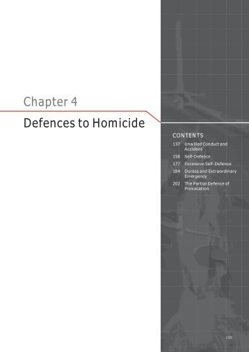 Chapter 4 Defences to Homicide - Law Reform Commission of ...