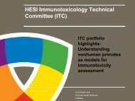 Bridging Science for Improved Immunotoxicity Evaluation