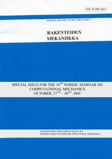 special issue for the 18 nordic seminar on computational mechanics ...