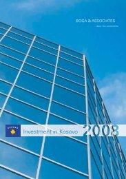 Investment in Kosovo 2008 - Boga & Associates, Homepage