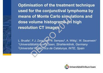 Optimisation of the treatment technique used for the ... - Wcenter.de