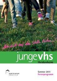 vhs junge - Stadt Heidenheim