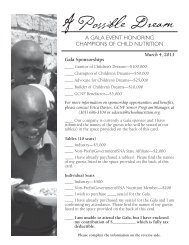 2013 A Possible Dream Gala RSVP - Global Child Nutrition ...