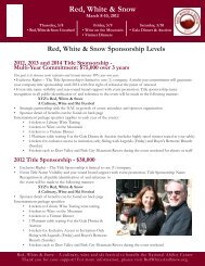 Red, White & Snow Sponsorship Levels - National Ability Center