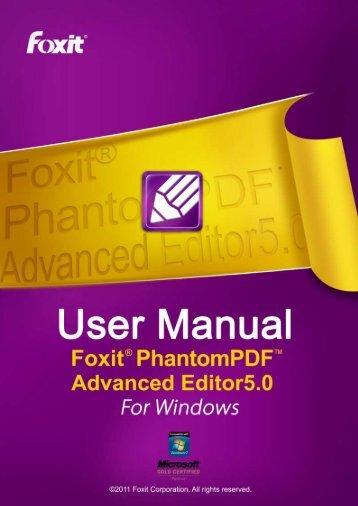 Foxit PhantomPDF Advanced Editor