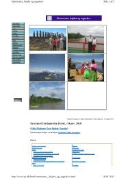 En rejse til Sydamerika 18.okt. -14.nov. 2010 - ujr.dk
