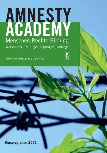Menschen.Rechte.Bildung - Amnesty International Österreich