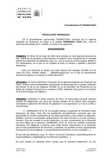 PS-00427-2014_Resolucion-de-fecha-07-11-2014_Art-ii-culo-10-LOPD