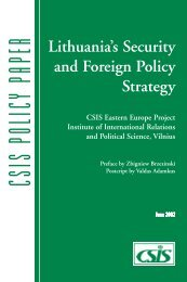 Lithuania's Security and Foreign Policy Strategy - Academos
