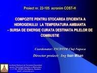 Compozite pentru stocarea eficienta a hidrogenului la ... - Prezentare
