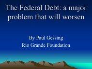 Paul Gessing's here. - Rio Grande Foundation
