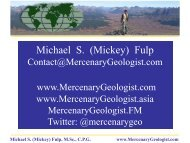 March 19-20, 2013 - Mercenary Geologist