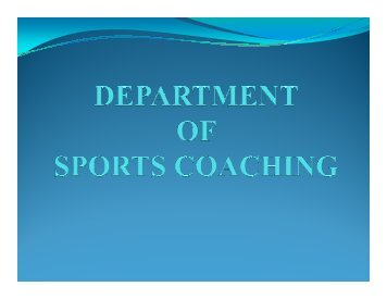 M.Sc. (Sports Coaching) - Lakshmibai National Institute of Physical ...