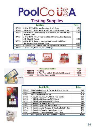 taylor pool test kit instructions pdf