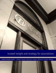 trusted insight and strategy for associations - Nanos Research