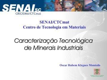 Caracterização tecnológica de minerais industriais
