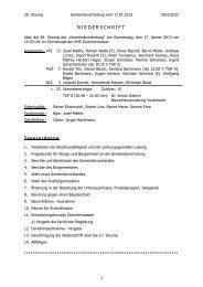 Niederschrift 28. Sitzung - Gemeinde Zwischenwasser