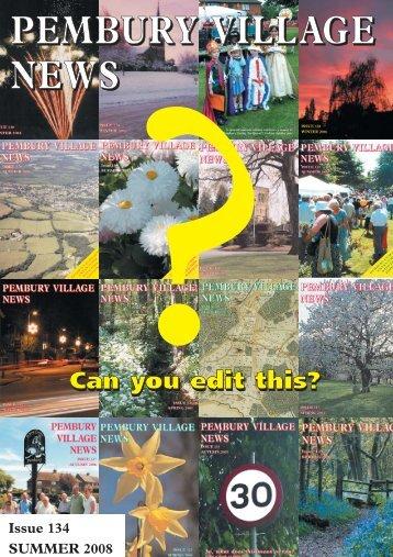 Issue 134 - the Pembury Village Website