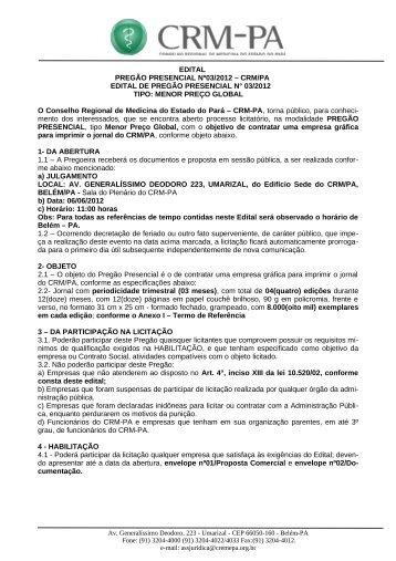 06/06/2012 - Conselho Regional de Medicina do Estado do Pará