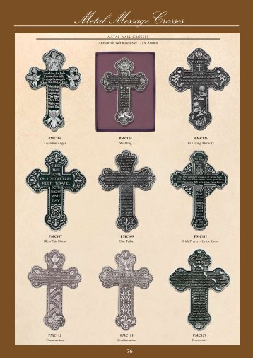 Metal Message Crosses - Christian Supplies