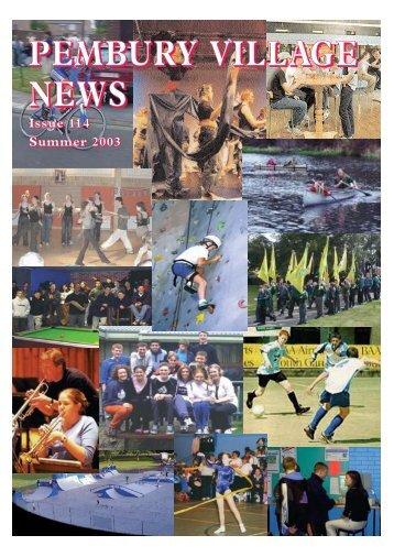Issue 114 - the Pembury Village Website