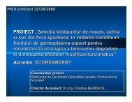 """PROIECT """"Selectia biotipurilor de maces, catina si soc din flora ..."""