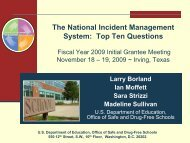 Top Ten Questions - Readiness and Emergency Management for ...