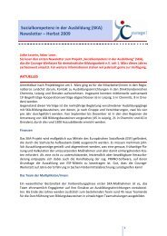 Newsletter SKA - Herbst 2009 - Netzwerk für Demokratie und Courage