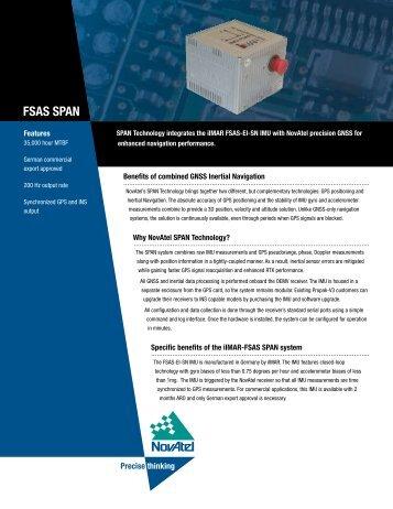 FSAS SPAN - Canal Geomatics
