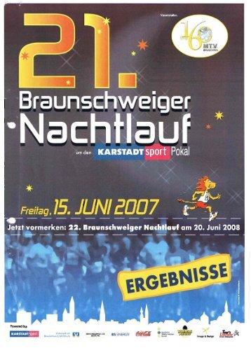 Ergebnisliste 2007 - Braunschweiger Nachtlauf