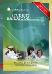 HCT Student Handbook 2011-2010 - Higher Colleges of Technology