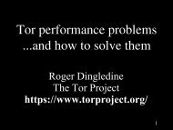 Tor performance problems ...and how to solve them - The Free ...