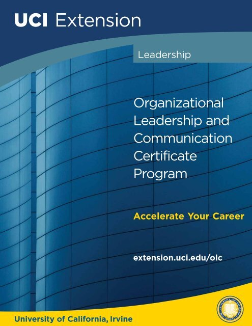 Organizational Leadership and Communication Certificate Program