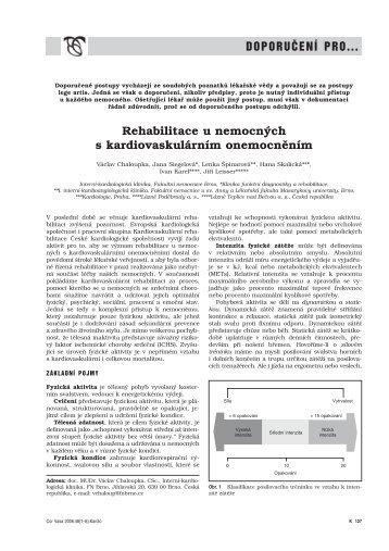 Doporučení pro rehabilitace u nemocných s kardiovaskulárním ...