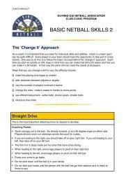 Basic Netball Skills 2 - Kna.com.au