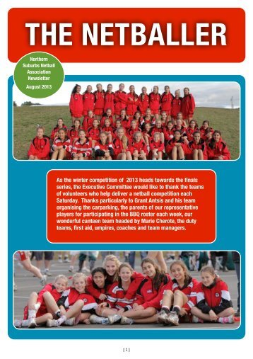 NSNA News August 2013 - Northern Suburbs Netball Association