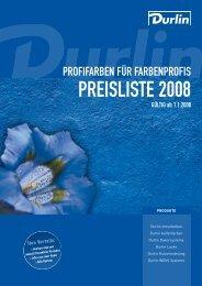 PREISLISTE 2008 - Murexin AG