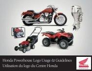 Honda Powerhouse Logo Usage & Guidelines Utilisation du logo du ...