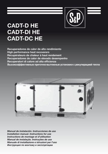 Manual de instalação CADT-D-DI-DC HE - Soler & Palau