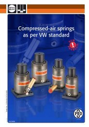 Compressed-air springs as per VW standard - Fibro GmbH