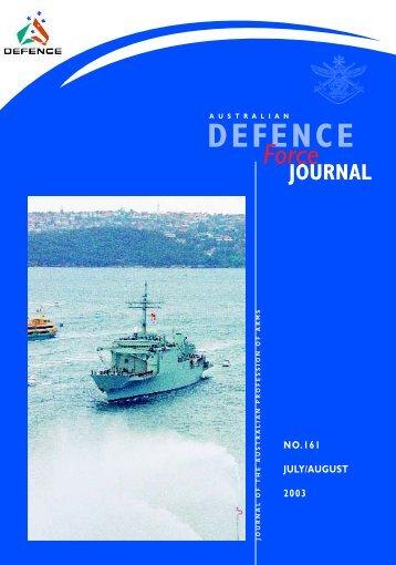 ISSUE 161 : Jul/Aug - 2003 - Australian Defence Force Journal