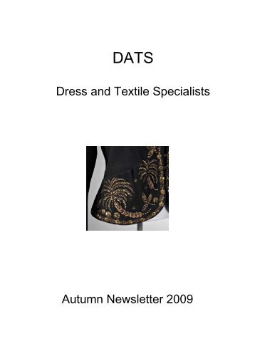 Dress and Textile Specialists Autumn Newsletter 2009