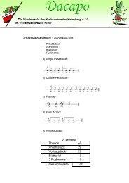 Prüfungsordnung D1 Schlagzeug & Snare Drum 2011