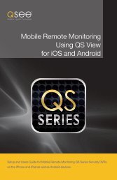 Mobile Remote Monitoring Using QS View for iOS and ... - Q-See